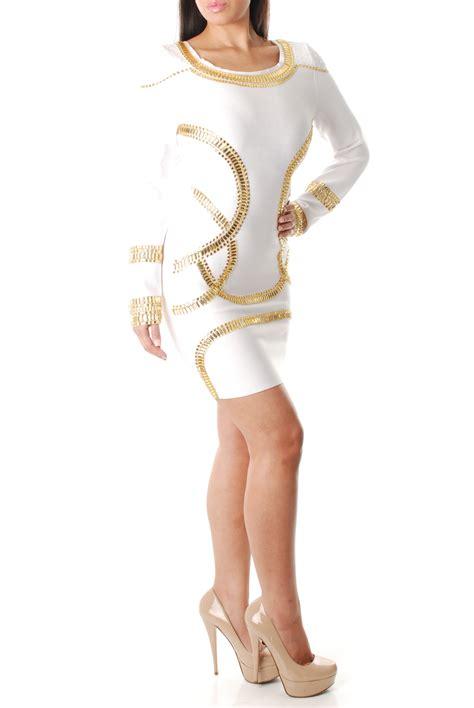 beaded bandage dress bodycon white beaded bandage dress dresses