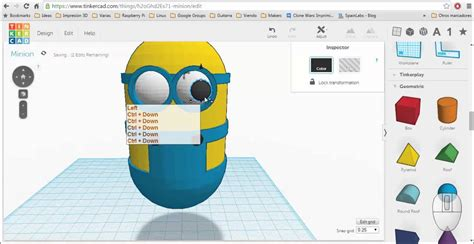tinkercad designs design a minion with tinkercad