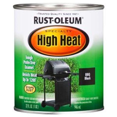 home depot high heat paint rust oleum specialty 1 qt bar b que black satin high heat