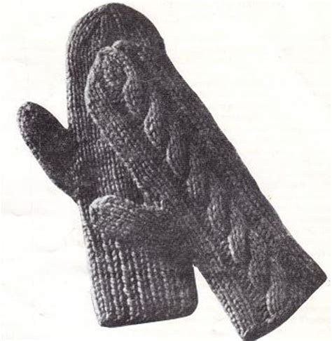 free knitting pattern for mittens on 2 needles easy two needle knit mittens for the whole family free