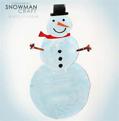 snowman craft printable snowman craft