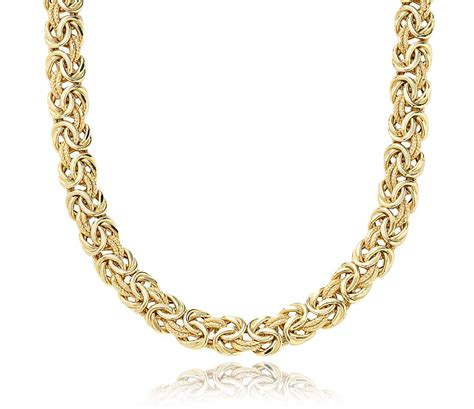 gold chain for jewelry byzantine necklace in 18k yellow gold blue nile
