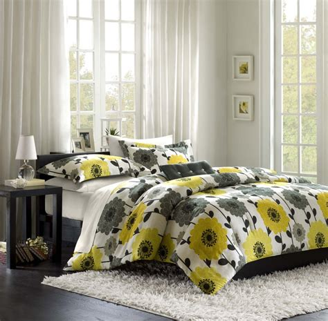 gray and yellow comforter sets yellow and gray comforter set bedroom color ideas gray
