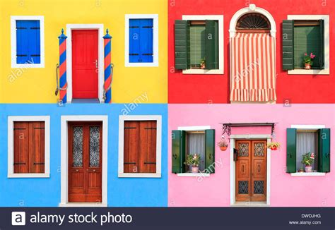 colorful doors colorful windows and doors in burano near venice italy
