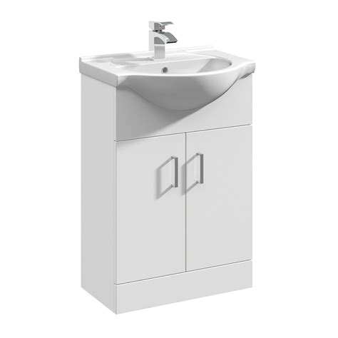 Bathroom Basin Cabinets White by Gloss White Bathroom Vanity Unit Cloakroom Cabinet