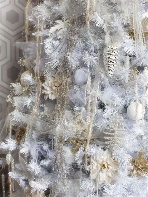 all white tree decorations white tree decorating ideas hgtv