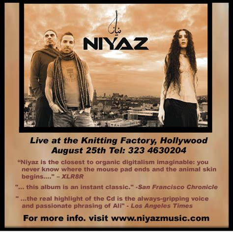 concerts at the knitting factory niyaz concert at the knitting factory in august
