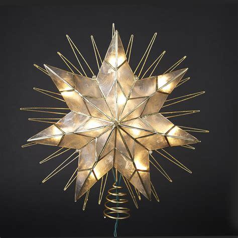 lighted tree topper 14 lighted capiz sunburst 7 point tree