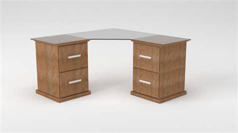 corner office desks corner office desk 3d model obj blend cgtrader