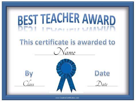 best certificate templates best teacher certificate certificate templates