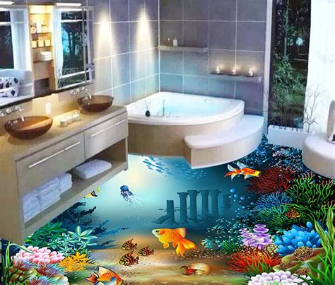 Cheap Wall Murals Wallpaper popular bathroom ocean floor tile buy cheap bathroom ocean
