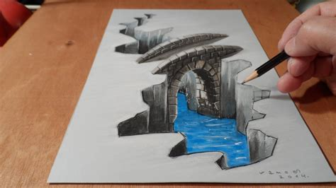 how to draw 3d 3d drawing bridge how to draw 3d