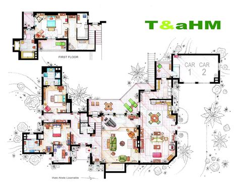 floor plans of tv show houses artist draws detailed floor plans of tv shows