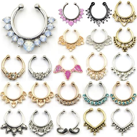 how to make septum jewelry new sale nose ring hoop nose rings