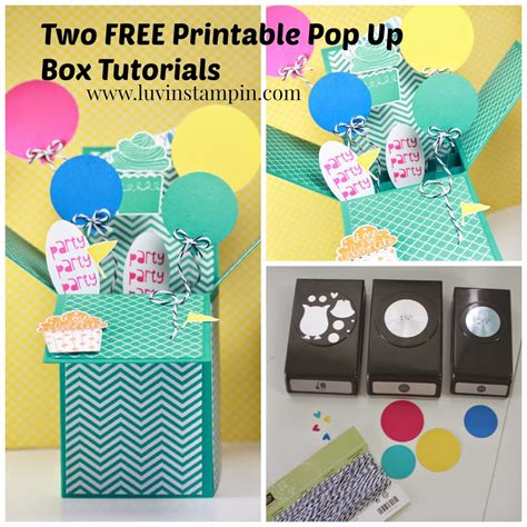 card techniques free free pop up box card tutorials luvin stin