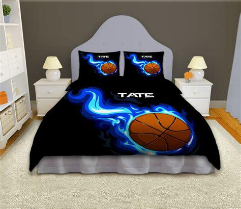 basketball bed set boys basketball personalized comforter set sports bedding