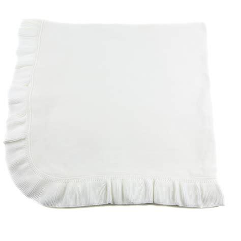 jersey knit blanket jersey knit ruffle blanket white