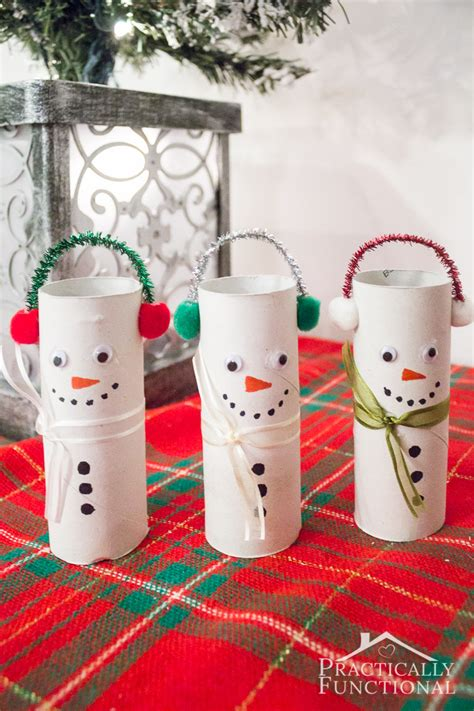 toilet paper roll snowman craft diy toilet paper roll snowmen