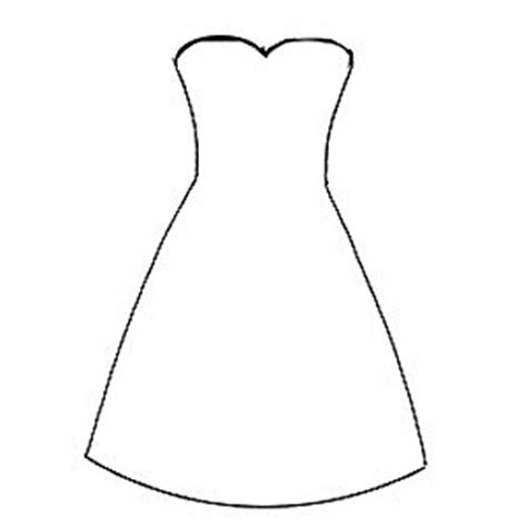 dress template for card for make this dress card
