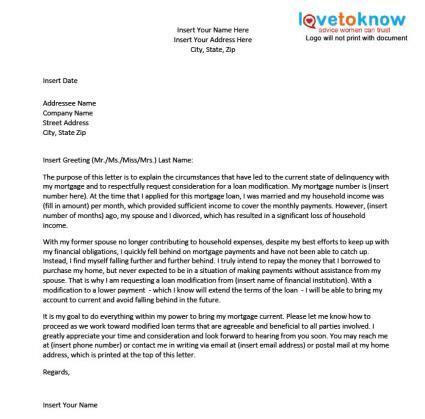 Modification Letter by Loan Modification Hardship Letter