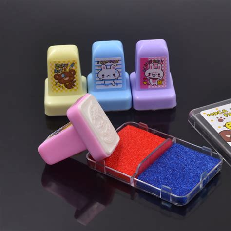 self inking rubber sts cheap she 4pcs rabbit rubber sts ink pad set