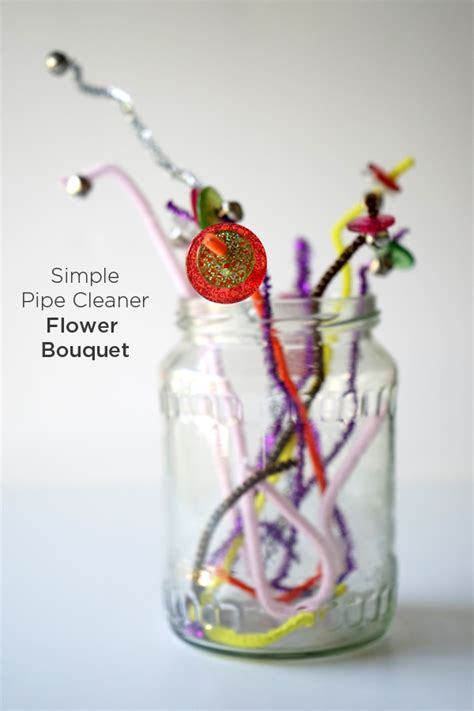 easy pipe cleaner crafts for easy crafts for flower bouquet tinkerlab