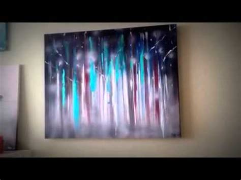 acrylic paint remove from canvas abstract painting quot mystical forest quot acrylic and spray