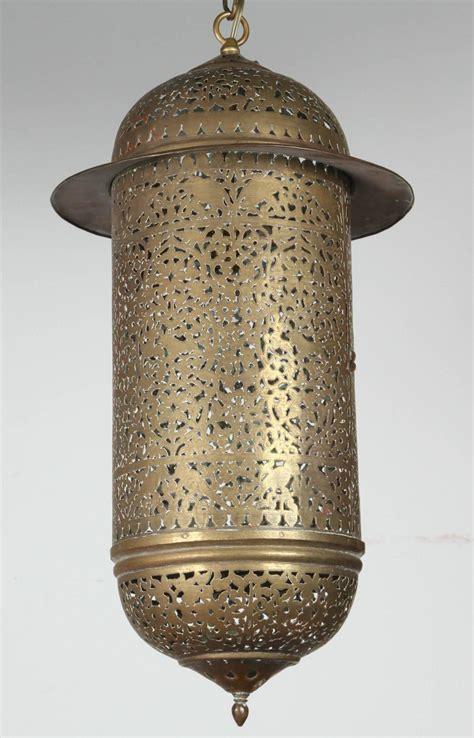 moroccan pendant lights vintage moroccan brass filigree pendant light fixture at