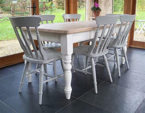 spray paint kitchen table farmhouse table and chairs painted by rectory blue