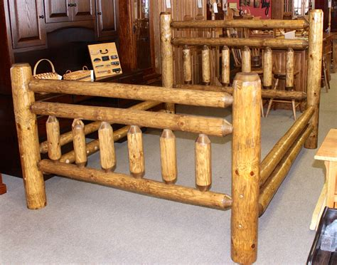 log bed rustic frontier log bed amish traditions wv