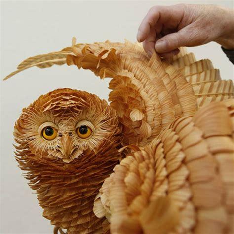 unique crafts unique crafts wood chips animal sculptures from sergey bobkov