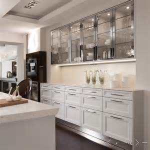 white glass kitchen cabinets glass front cabinets contemporary kitchen de giulio