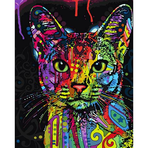 diy cat painting buy wholesale colorful cat from china colorful