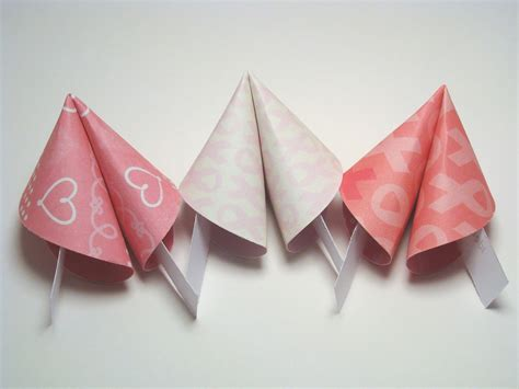 fortune cookie origami breast cancer awareness origami fortune cookies set of