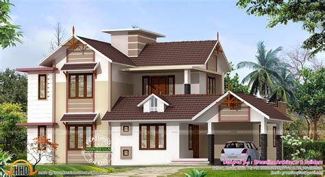 new homes design 2400 sq ft new house design kerala home design and floor