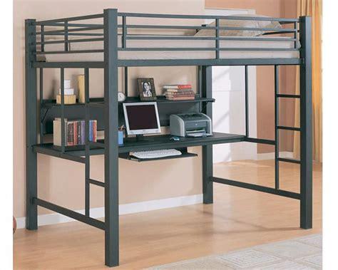 coaster loft bed coaster furniture workstation loft bed in black bunks
