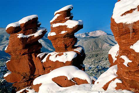 Garden Of The Gods Winter Colorado Photograph Winter Garden Of The Gods
