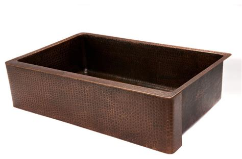 rustic kitchen sinks 35 quot copper kitchen apron single basin sink rustic