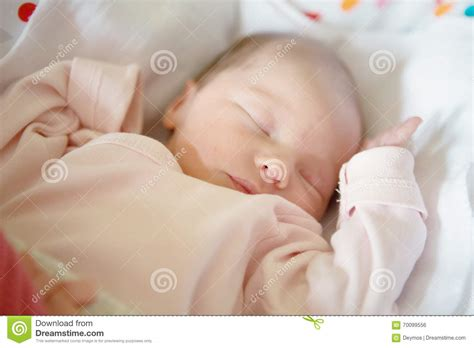 babies sleeping in crib newborn baby sleeping in crib stock photo image