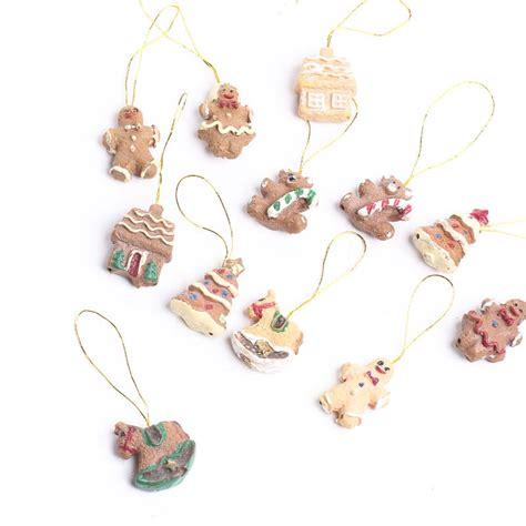 miniature ornaments miniature gingerbread ornaments miniatures