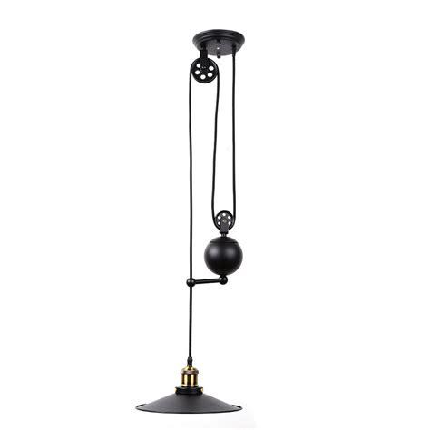 retractable pendant lights vintage edison industrial pulley pendant lights adjustable