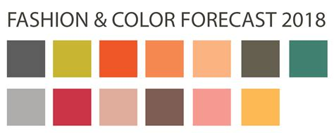 color forecast fashion color forecast 2018 updated back to brain