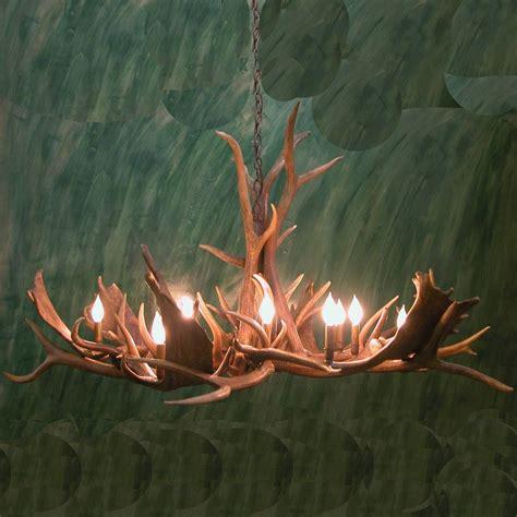 elk chandelier elk and fallow deer antler pinwheel chandelier