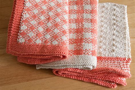 knit towel pattern gingham towel set knitting patterns and crochet patterns