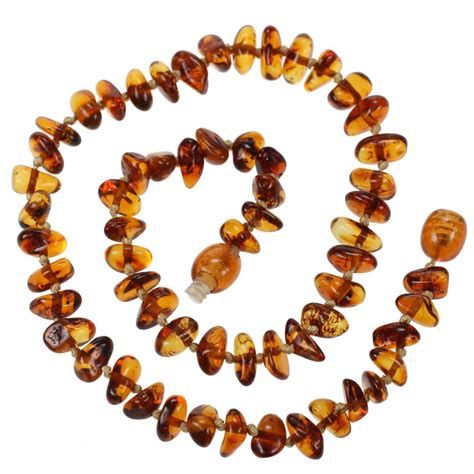 baby bead necklace genuine baltic teething necklace for baby cognac