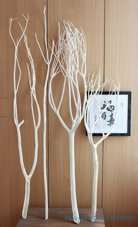 white tree decor using branches creatively tree branch decor
