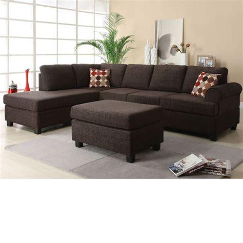 reversible chaise sectional sofa dreamfurniture 50540 donovan butler onyx
