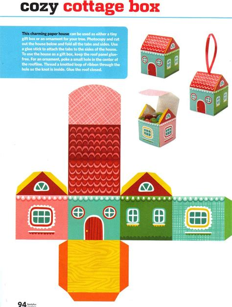 paper crafts house 6 best images of printable gift box templates paper crafts