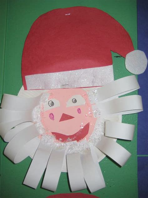 santa paper plate craft paper plate santa deck the halls it s time