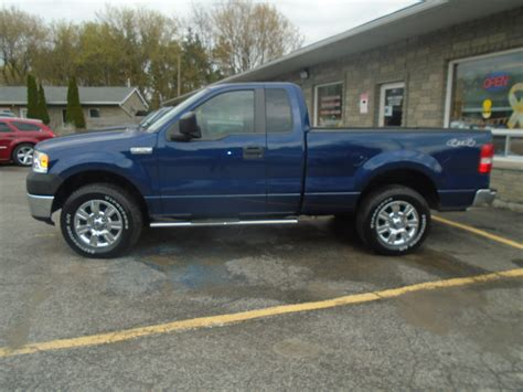 07 Ford F150 by 2007 Ford F150 Xl 4 215 4 Blue 3 Bob Currie Auto Sales